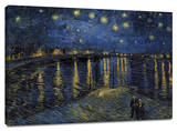 Starlight over Rhone Custom Stretched Canvas Print by Vincent van Gogh
