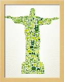Brazil Go Green Concept Illustration Prints by  cienpies
