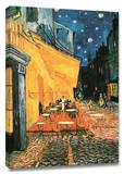 夜のカフェテラス 1888年 キャンバスプリント : フィンセント・ファン・ゴッホ