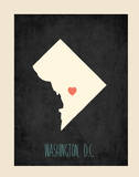 Personalized Vintage District of Columbia State Map Posters by Rebecca Peragine