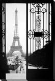 Eiffel Gates, 1925 Stretched Canvas Print