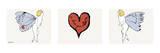 I Love You So, c. 1958 (triptych) Plakat autor Andy Warhol