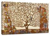 El árbol de la vida Custom Stretched Canvas Print por Gustav Klimt
