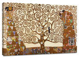 The Tree of Life Custom Stretched Canvas Print by Gustav Klimt