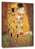 The Kiss Stretched Canvas Print by Gustav Klimt