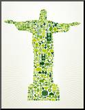 Brazil Go Green Concept Illustration Mounted Print by  cienpies