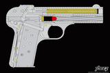 Handgunner - Yellow Plastic Sign by  Steez