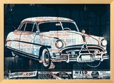 Vintage Car Framed Giclee Print by  Methane Studios