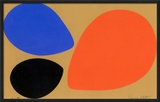 Birth/Black, Orange and Blue Eggs Framed Giclee Print by Jerry Kott