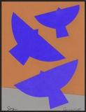 Three Birds Celebrating Joy Framed Giclee Print by Jerry Kott