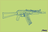 Gun Plastic Sign by  Steez