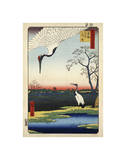 Two Cranes from Meisho Yedo Hiakkei (One Hundred Famous Views of Edo) Giclee Print by Ando Hiroshige