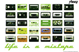 Life Is A Mixtape - Green Wall Decal by  Steez