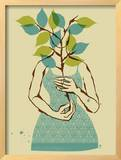 Emily Framed Giclee Print by  Methane Studios