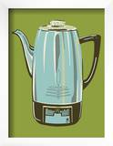 Coffee Pot - Green Poster by  Methane Studios