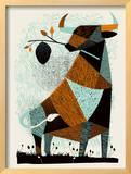 Bull Hive Framed Giclee Print by  Methane Studios