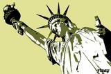 Estatua de la Libertad Vinilo decorativo por Steez