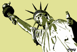 Lady Liberty Wall Decal by  Steez