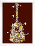 Flower Guitar Prints by  Methane Studios