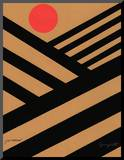 Cultivate with Red Sun Mounted Print by Jerry Kott