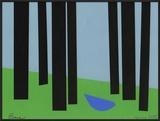 Peace/Bluebird in Black Forest Framed Giclee Print by Jerry Kott