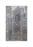 The Cathedral in Rouen, The Portal, Grey Weather, 1892 Giclee Print by Claude Monet