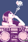 Boom Box Joint - Pink Wall Decal by  Steez