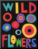 Wildflowers Poster Mounted Print by Jerry Kott