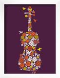 Flower Violin Print by  Methane Studios