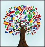 Flags Of The World Tree Mounted Print by  cienpies