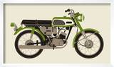 1970 Green Motorcycle Prints by  Methane Studios