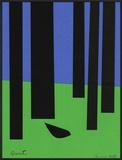 Peace/Blackbird in Black Forest Framed Giclee Print by Jerry Kott