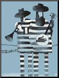 Prisoners Mounted Print by  Methane Studios