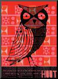 Hoot Mounted Print by  Methane Studios