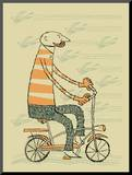 Hipster Bike Mounted Print by  Methane Studios