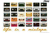 Life Is A Mixtape - Orange Wall Decal by  Steez