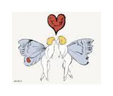 I Love You So, c. 1958 (angel) Impressão giclée por Andy Warhol