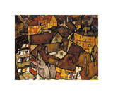 Crescent of Houses (The Small City V), 1915 Giclee Print by Egon Schiele