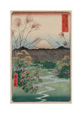 The Coast at Hota, from the series Thirty-six Views of Mount Fuji, 1858 Reproduction procédé giclée par Ando Hiroshige