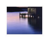 Sunset Dock Giclee Print by Derek Jecxz