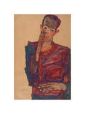 Self-Portrait with Eyelid Pulled Down, 1910 Giclee Print by Egon Schiele