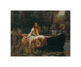 The Lady of Shalott, 1888 Giclee Print by J.W. Waterhouse