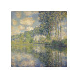 Poplars on the Epte, 1891 Giclee Print by Claude Monet