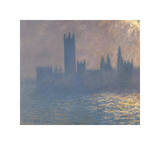 Houses of Parliament, Sunlight Effect (Le Parlement, effet de soleil), 1903 Giclee Print by Claude Monet