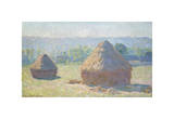 Haystacks, End of Summer, 1891 Giclee Print by Claude Monet