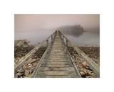 Footbridge to the Island Giclee Print by Derek Jecxz