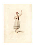 Felicite Hullin, Dancer in La Paysanne Supposee, 1822 Giclee Print by Frederic de Waldeck