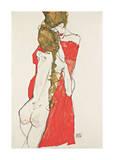 Mother and Daughter Giclee-vedos tekijänä Egon Schiele