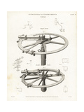 Astronomical Circles Invented by Tobias Mayer and Borda Giclee Print by J. Farey