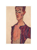 Self-Portrait, Grimacing Giclee Print by Egon Schiele